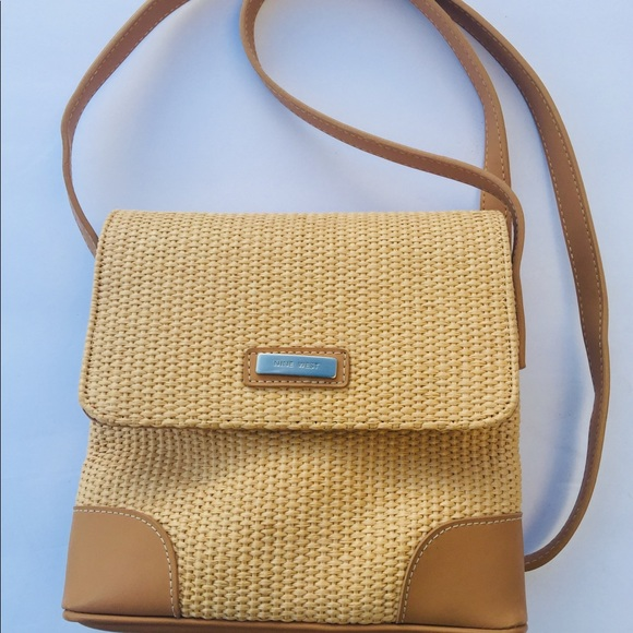 Nine West Handbags - Nine West Straw/Raffia Crossbody Bag